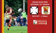 Team Selection – Neath RFC v Carmarthen Quins RFC