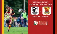Team Selection – Pontypridd RFC v Carmarthen Quins RFC