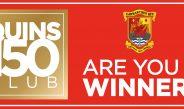 QUINS 150 CLUB WINNERS