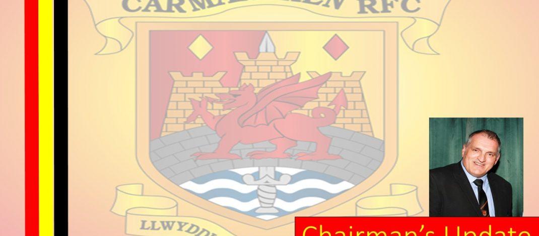 Message from Club Chairman Jeff Davies